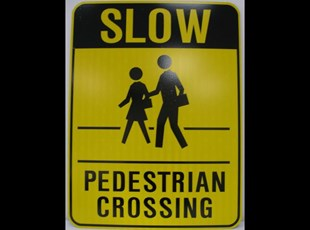 Reflective Pedestrian Crossing Sign