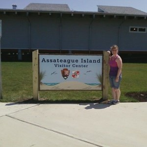 Assateague Island Visitor Center Full Color Carved Sign