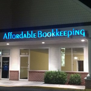Affordable Bookkeeping Lighted Channel Letters