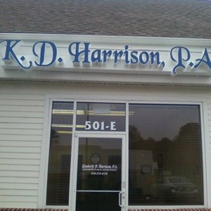 K.D. Harrison Lighted Channel Letters