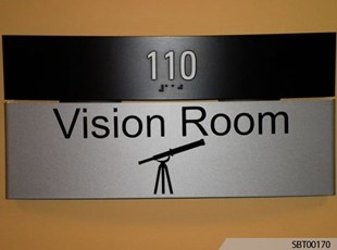 Vision Room ADA Sign