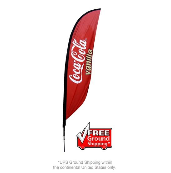 Single Sided Feather Outdoor Banner