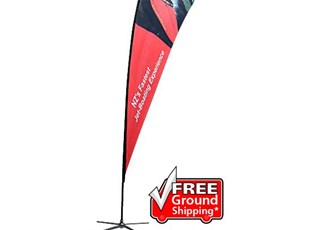 Single Sided with X Base Feather Outdoor Banner