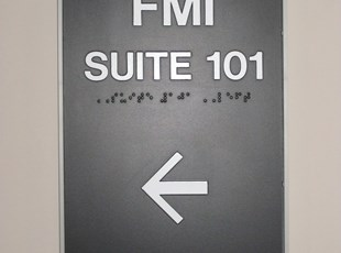 ADA Sign with Braille