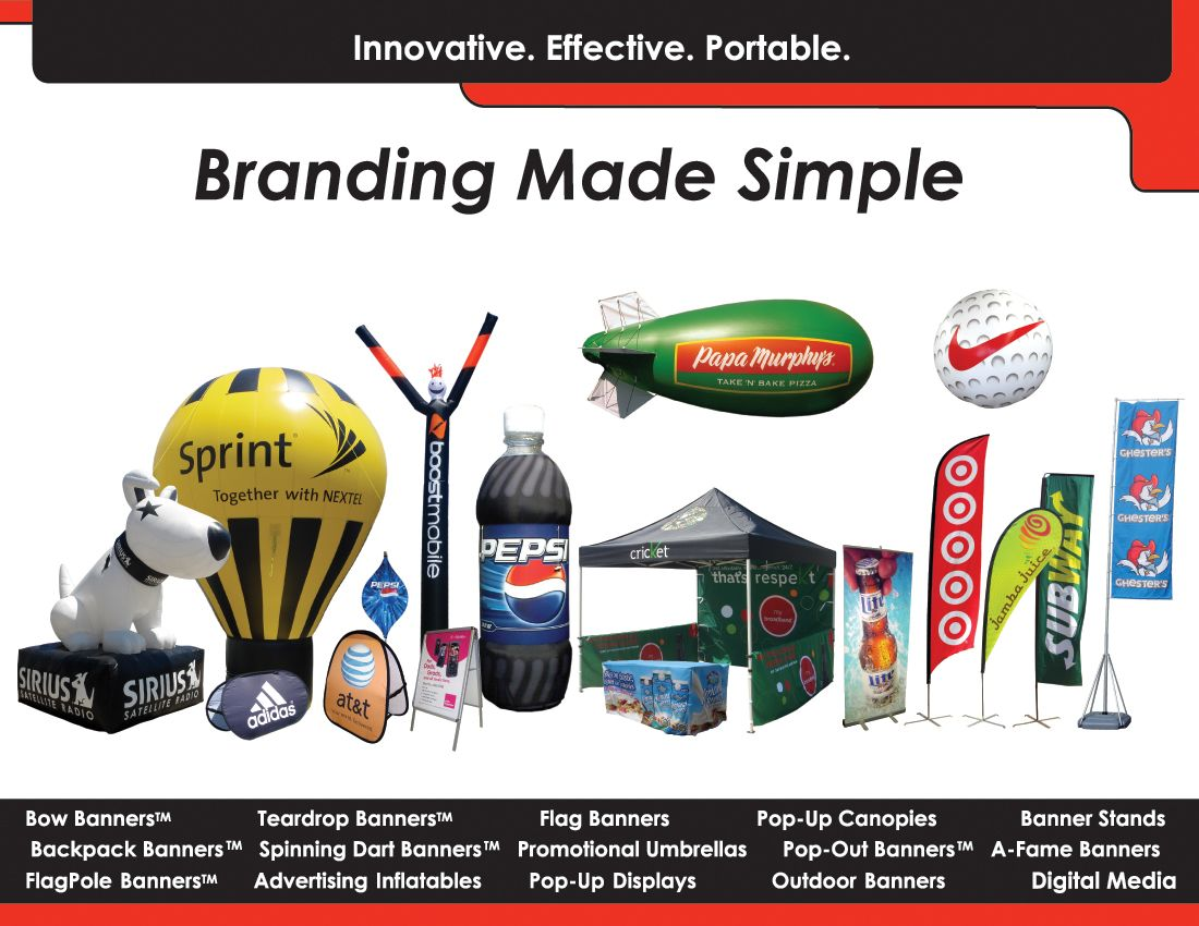 CLICK HERE to View Our Catalog of Banner Stands, Bow Flags, and Other Eye Catching Signs!