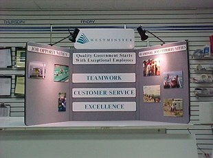 Table Top Display for City of Westminster