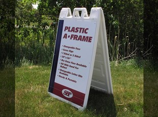 Signicade Molded Plastic A-Frame