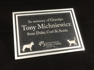 Laser Engraved Aluminum Plaque