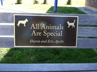 Humane Society Bench Bronze Plaque