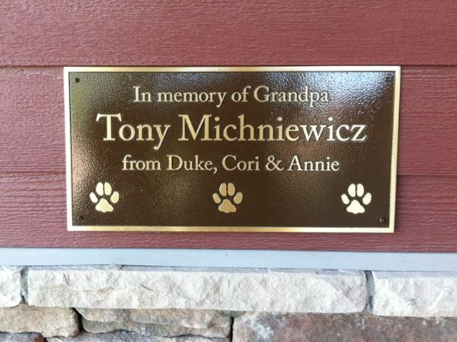 Humane Society Wall Bronze Plaque