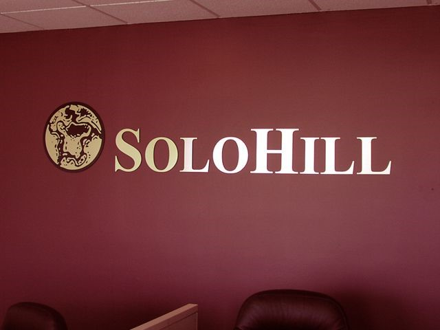 Solo Hill Brushed Gold Interior Dimensional Letter