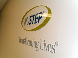 NuStep Interior Acrylic Lettering