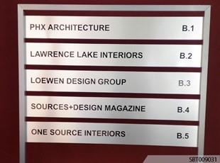 Metal Interior Directory Sign