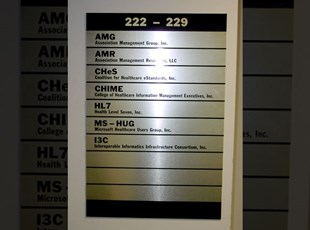 AMR Brushed Gold Aluminum Office Directory