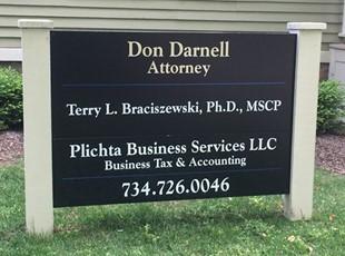 Don Darnell Dibond Aluminum Post & Panel