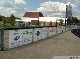 High School Athletics Plastic Sponsor Signs