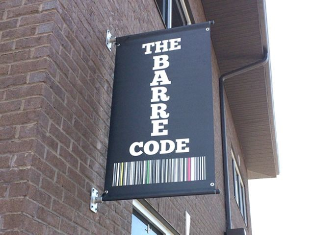 The Barre Code Pole Banner