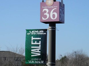 Briarwood Mall Valet Parking Pole Banner