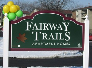 Routed PVC Apartment Entrance Sign