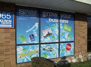 Store Front Window Perf Graphics
