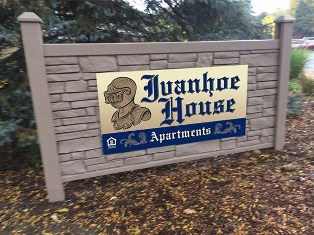 Ivanhoe House Dibond Aluminum Sign