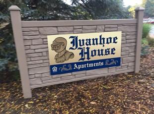 Ivanhoe House Dibond Aluminum Sign