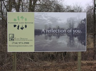 Elan Designs Alumalite Job Site Sign