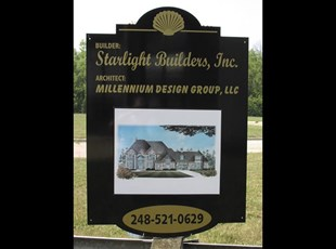 Alumalite Custom Shape Jobsite Yard Sign