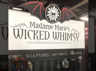 Madame Marie's Wicked Whimsy Tradeshow Backdrop