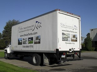 Box Truck with Vinyl Lettering & Printed Graphics