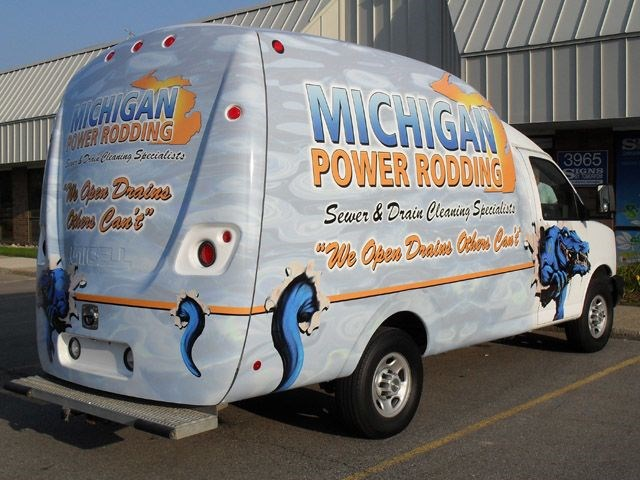 Michigan Power Rodding Uni-Cell Van Wrap