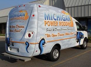 Michigan Power Rodding Uni-Cell Van Wrap