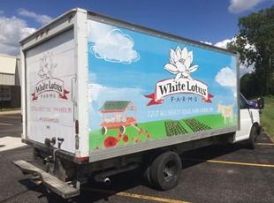 White Lotus Farms Box Truck Wrap