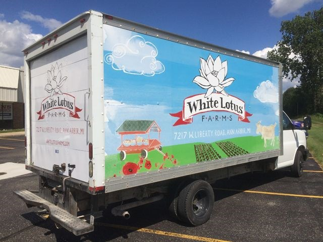 White Lotus Farms Box Truck Wrap