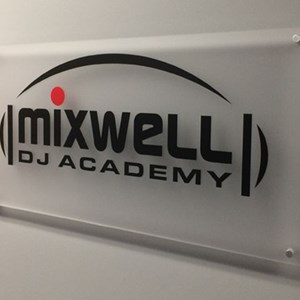 Mixwell DJ Academy Acrylic with Vinyl Graphics with Standoffs