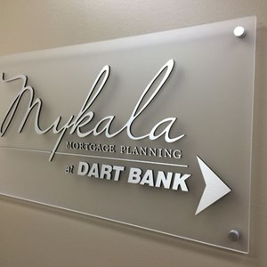 Mykala Mortgage Acrylic with GemLeafs Logo with Standoffs