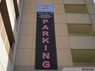 Outdoor Parking Custom Fabric Banner