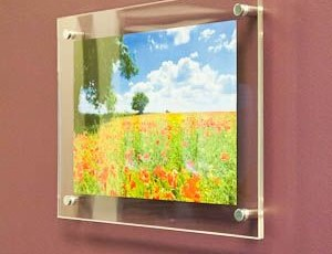 Acrylic w/ stand-offs | Indoor Wall Frames | Healthcare | City of San Antonio, Great State of Texas