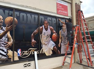 Wall Coverings | Outdoor Vinyl Lettering & Graphics | Entertainment | San Antonio, TX