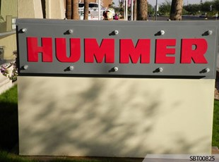 Hummer Outdoor Dimensional Lettering