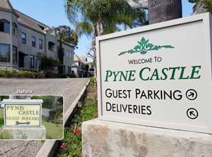 Illuminated Monument Sign Pyne Castle Laguna Beach Signs By Tomorrow