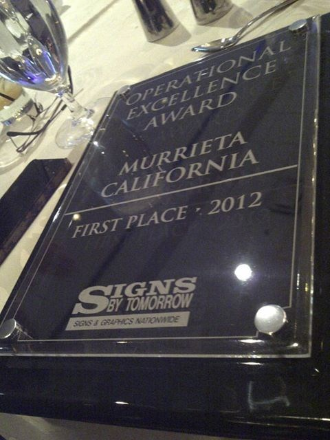 Signs By Tomorrow - Murrieta Receives National Operational Excellence Award