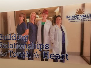 acrylic with standoffs, inland valley medical, wildomar, signs by tomorrow, murrieta