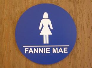 FannieMae Restoom Sign
