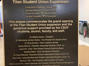 Cast Bronze Plaque - Cal State Fullerton Student Union