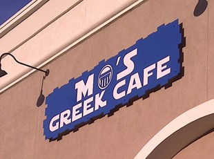 Illuminated Dimensional Lettering Mo's Greek Cafe murrieta temecula signs by tomorrow