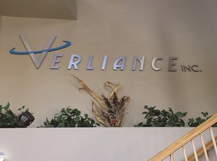 Verliance Lobby Sign