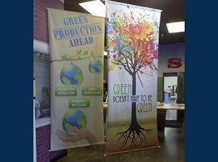 SBT banners using green materials