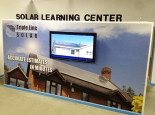 TripleLine Solar Interior Wall with 3D Lettering