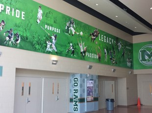 wall covering, interior, vinyl, signs by tomorrow, inland valley, southern california, murrieta mesa high school, mmhs, temecula